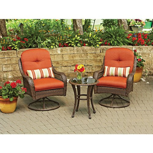 (3-Piece Outdoor Furniture Set, Better Homes and Gardens Azalea Ridge 3-Piece Outdoor Bistro Set, Seats 2)