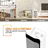 Ceramic Space Heater - Tower Heater for Office Heat Up Fast Small Portable Personal Heater Fan Under The Desk with Adjustable Thermostat Oscillating Heater Instant Warm for Winter