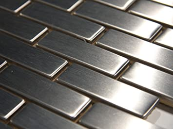 mm 016 1x2 brick stainless steel tile