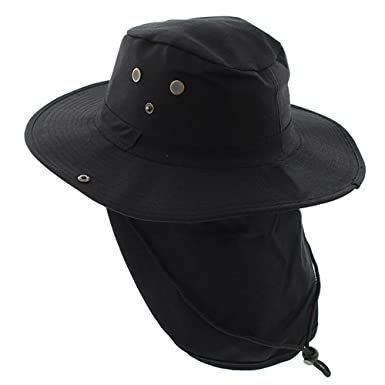 4abdb19e184 Image Unavailable. Image not available for. Color  The Hat Jungle boonie  Bucket Hat Neck Flap Tactical Wide Brim Outdoor Military