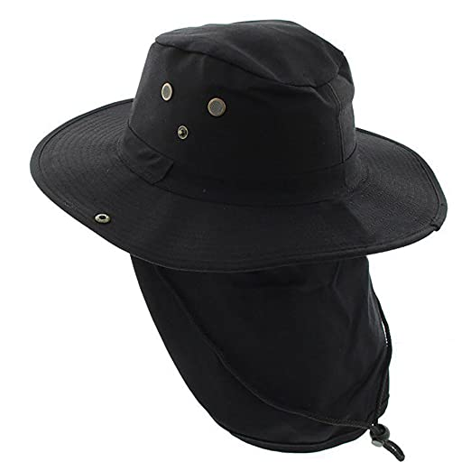 5fbf327d054 Image Unavailable. Image not available for. Color  The Hat Jungle boonie Bucket  Hat Neck Flap Tactical Wide Brim Outdoor Military