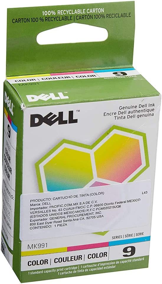 Dell OEM 330-0972 HIGH Yield Color Ink Cartridge V305, V305w All in ONE Printer