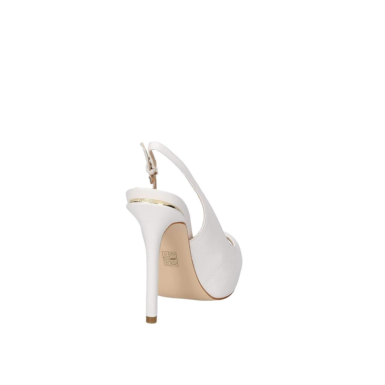 Guess Decollete Donna HARTLIE SPUNTATA Cinturino Tacco 12 Leather White