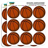 Basketball 2' Planner Calendar Scrapbooking Crafting Stickers - Opaque
