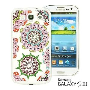 OnlineBestDigital - National Pattern Hardback Case for Samsung Galaxy S3 III I9300 - Pink Floral Pattern WANGJING JINDA