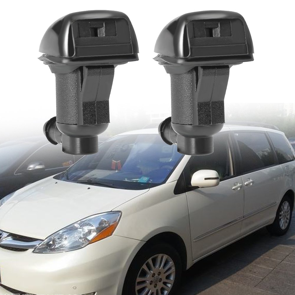 Windshield Washer Nozzles for Toyota Sienna 2004 2005 2006 2007 2008 2009 2010 Replaces 85381-AE020, Pack of 2 Anxingo