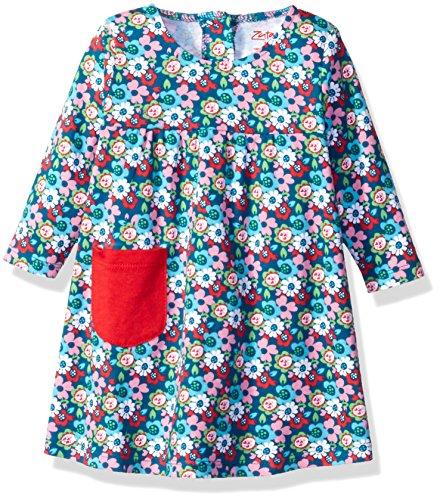 Zutano Baby Little Pocket Dress, Edelweiss, 12 Months