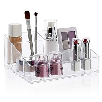 96ca474b58d3 STORi Clear Plastic Vanity Makeup Organizer