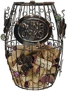 Home-X Wine Barrel Cork Holder. Wine Cork Holder.