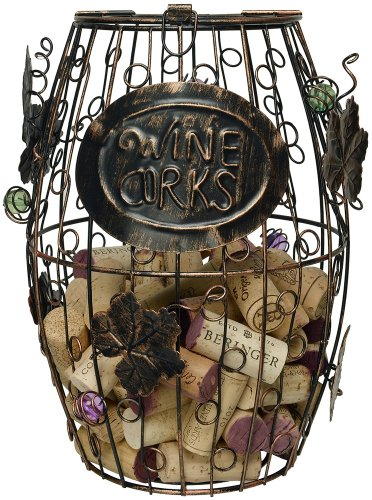 Home-X Wine Barrel Cork Holder. Wine Cork Holder. 100 Bottle Wine Rack