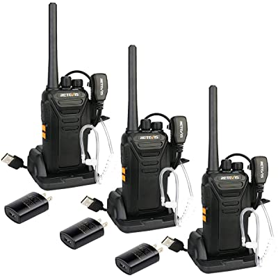 Retevis RT27 Walkie Talkies Rechargeable Two Way Radio 22 CH USB VOX Security Long Range 2 Way Radios with Earpiece Covert Air Acoustic (3 Pack): Car Electronics
