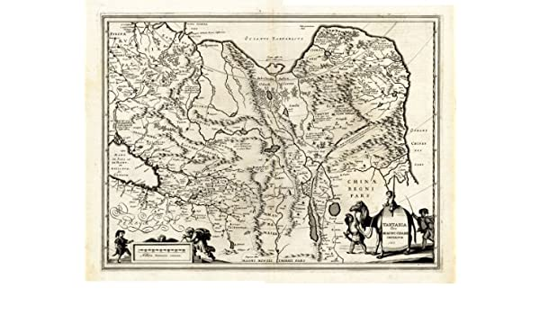 Amazon.com: Antique Map-TARTARIA-CHAMI-Hondius-Janssonius ...