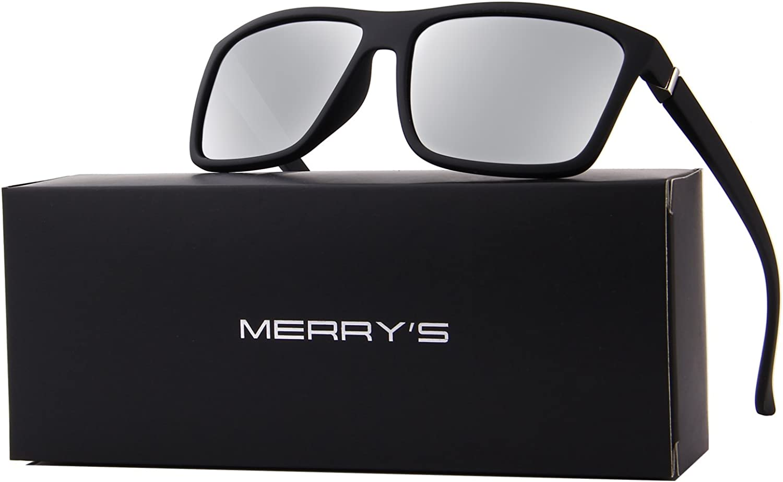 MERRYS Men Polarized Sunglasses Fashion Male Sun glasses 100/% UV Protection S8225