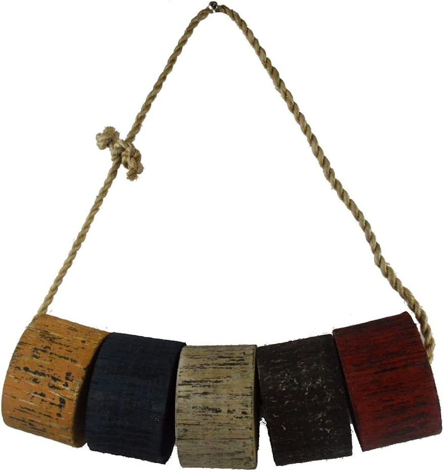 Nautical Tropical Imports Wooden Fishing Floats on Rope Vintage Hanging Decor 12 Inch
