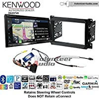 Volunteer Audio Kenwood DNX574S Double Din Radio Install Kit with GPS Navigation Apple CarPlay Android Auto Fits 2013-2014 Dodge Ram