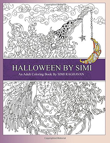Amazon.com: Halloween by Simi: Hand drawn Halloween Adult Coloring ...