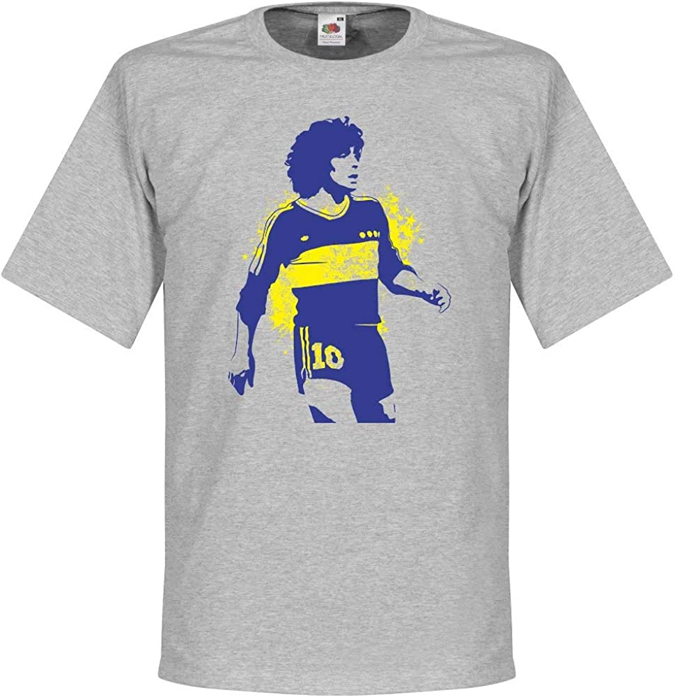 Boca Maradona T-Shirt grau