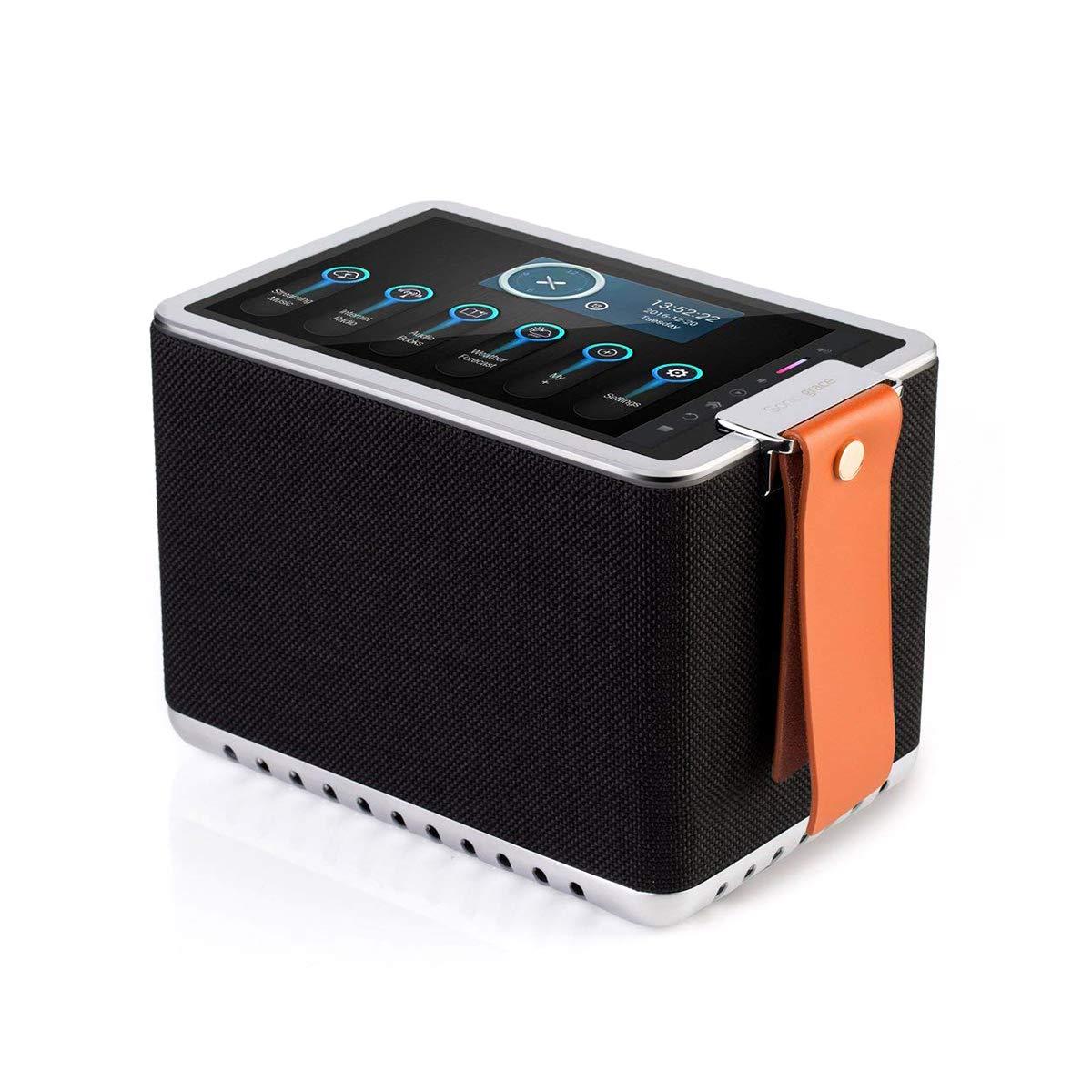 Sonicgrace Wi-Fi Internet Radio, 8'' High Definition Touchscreen, 40W Wireless Hi-Fi Stereo Speaker, 8-in-1 Multifunctional Bluetooth Speaker - Black