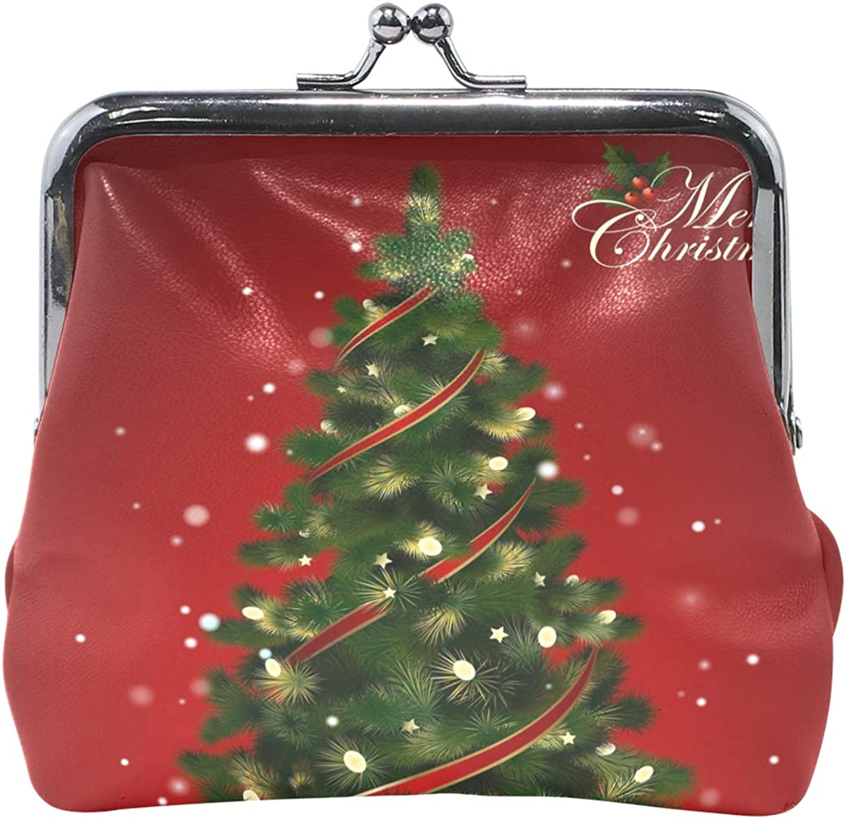 Women Wallet Purse Beautiful Christmas Tree Clutch Bag Leather