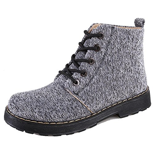 Women Martin Boots Canvas Thicker Flat Warm Ankle Shoelace Short Shoes 1-35