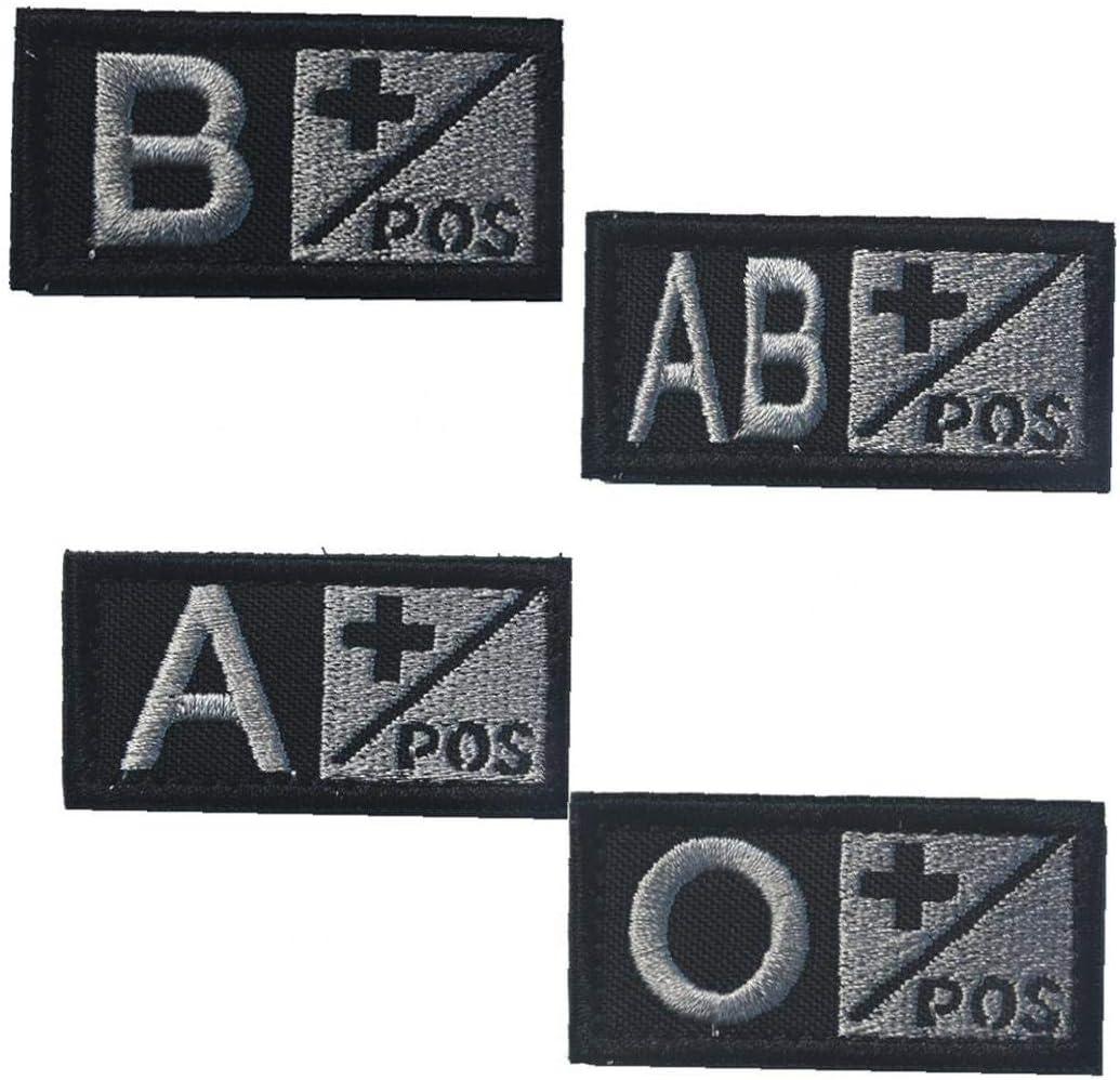 Il Sangue Di Tipo B Pos Distintivo Durevole Morale Nylon Ricamato Militari Distintivo Appliques Patch Decorativi Per Lesterno Nero