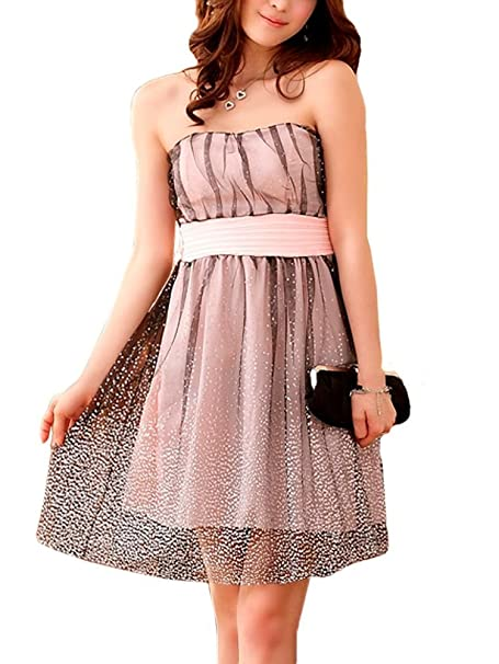 VIP Dress Chiffon Cocktailkleid   Jugendweihekleid   Abschlusskleid kurz in  Rosa, Größe 44 c87e4fbcf6