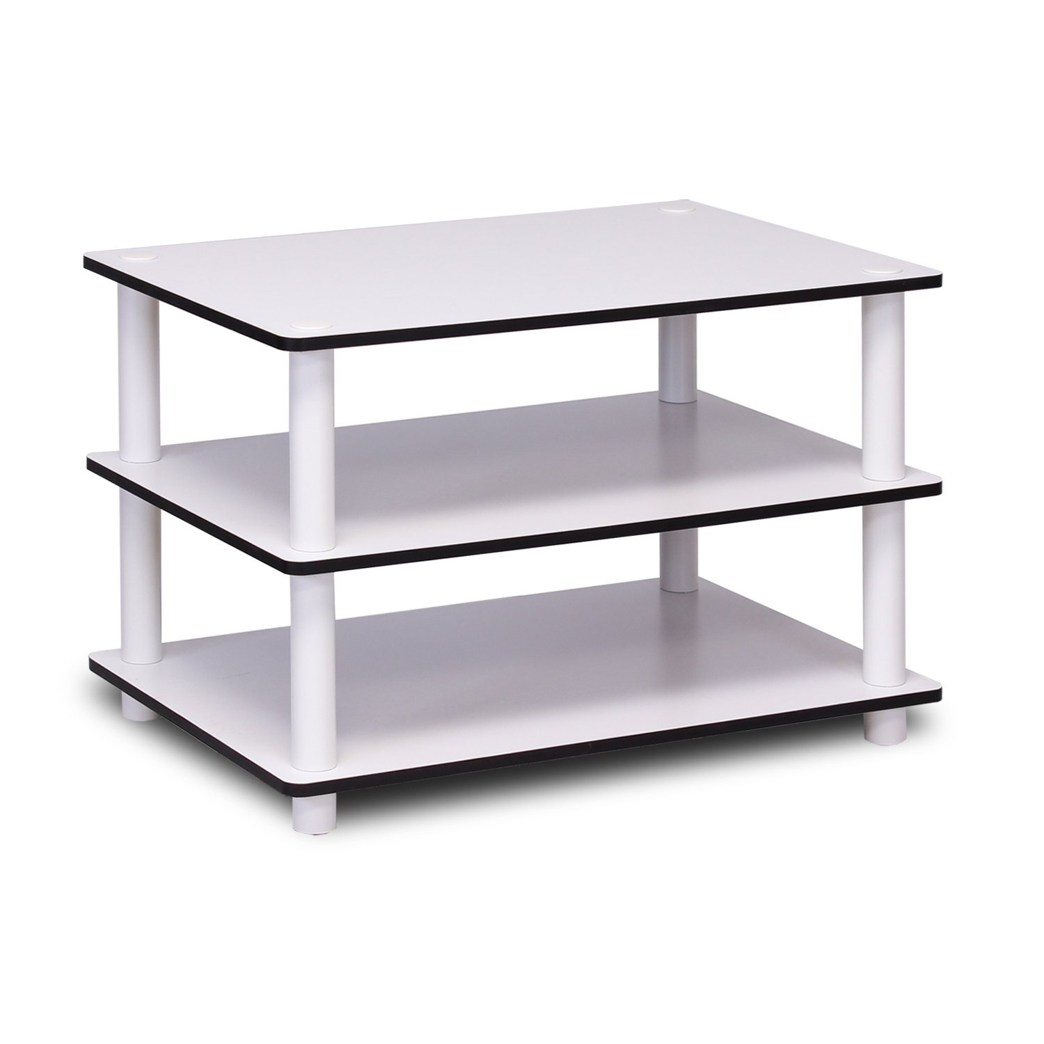 Amazon Furinno Just 3 Tier No Tools Coffee Table White