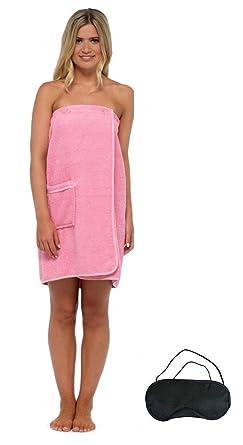 5ad40c528d Ladies Womens Luxury Towel Towelling Gown Robe Wrap Spa Bath Beach Shower  Cotton (S