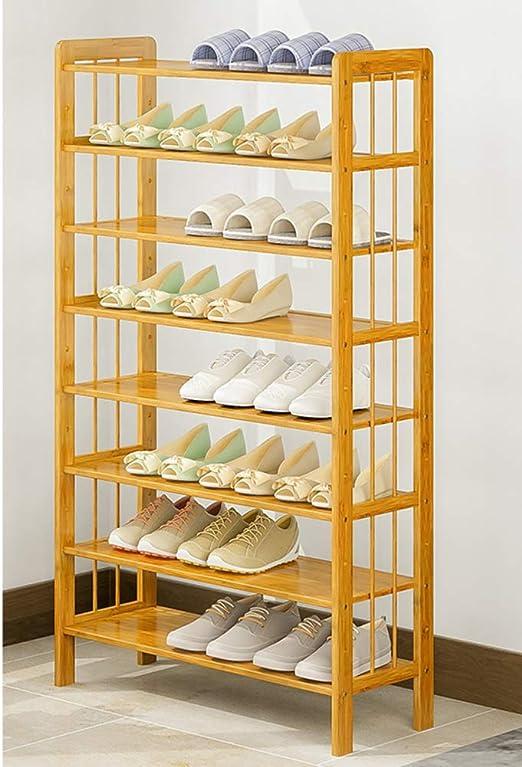 ALIPC Bamb/ú Simple Zapatero,Altura Ajustable Multi-Capa De Estante De Zapatos Ensamblaje De Gran Capacidad Zapatero Estante del Zapato-b 70x26x126cm 28x10x50inch