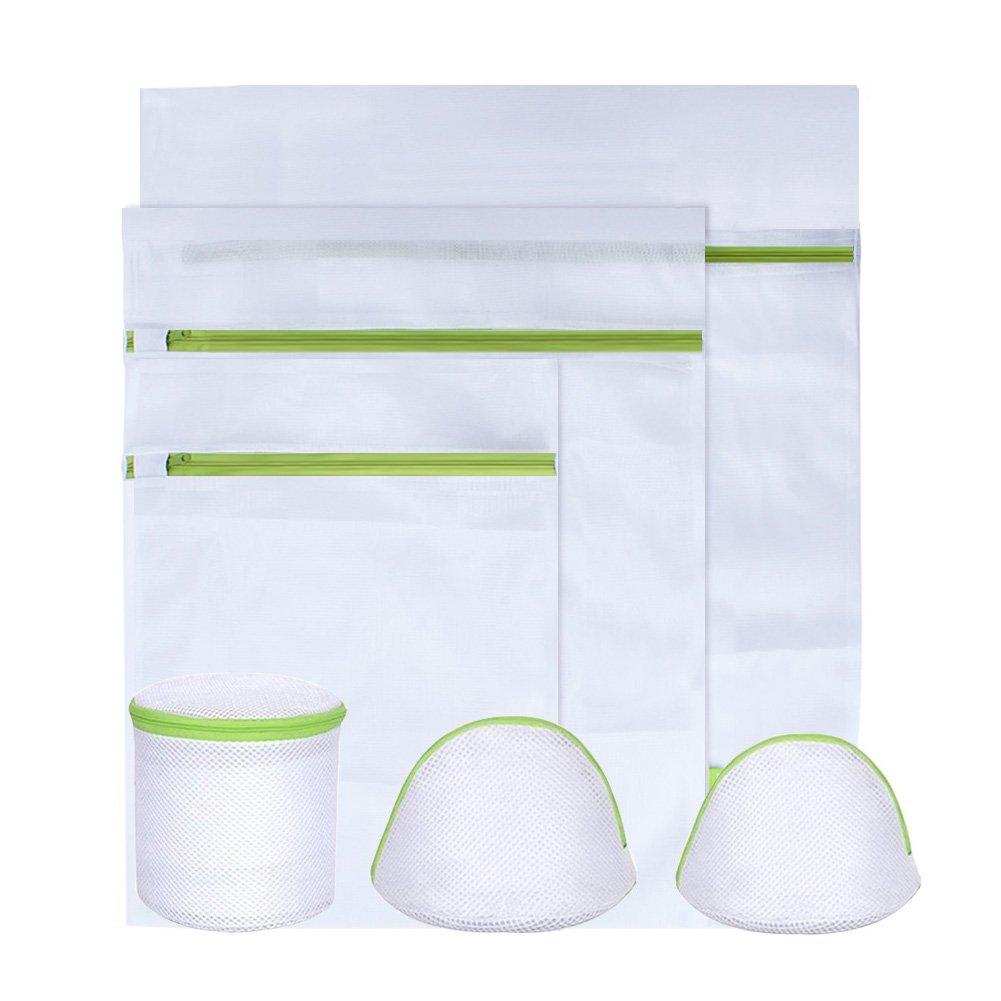 KYG Wäschenetz 6 Stück Wäschesack Set mitreißverschluss Wäschebeutel für Waschmaschine, Unterwäsche, Babywäsche , Strümpfe ,Socken USW Grün Unterwäsche Babywäsche Strümpfe Socken USW Grün