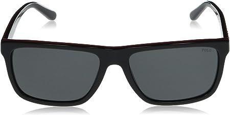 Ralph Lauren POLO 0PH4153 Gafas de sol, Black/Red/Black, 58 para Hombre