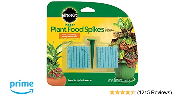 Miracle-Gro 300157 Plant Food, 48-Spikes Indoor Fertilizer, pk