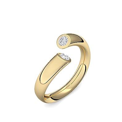 b47b937121 Goldring Diamant 585 + inkl. Luxusetui + Diamant Ring Gold Diamantring Gold  0,08