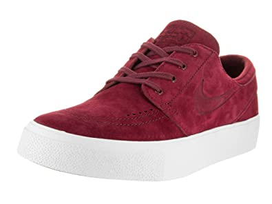 Nike Men s Zoom Stefan Janoski Premium Team Red White Ankle-High Leather  Skateboarding Shoe 96550b544