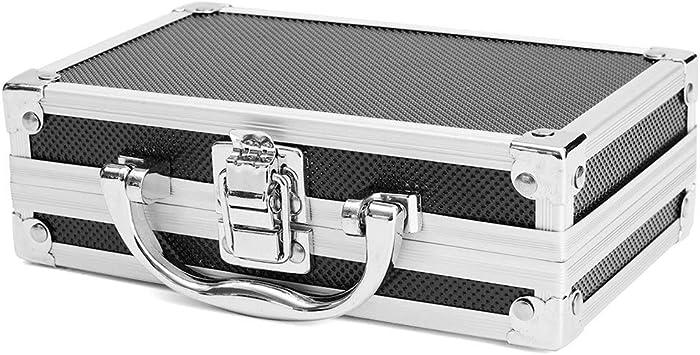 Caja de seguridad de aluminio con cerradura para herramientas de vuelo, 2 cerraduras de combinación, almacenamiento portátil: Amazon.es: Bricolaje y herramientas