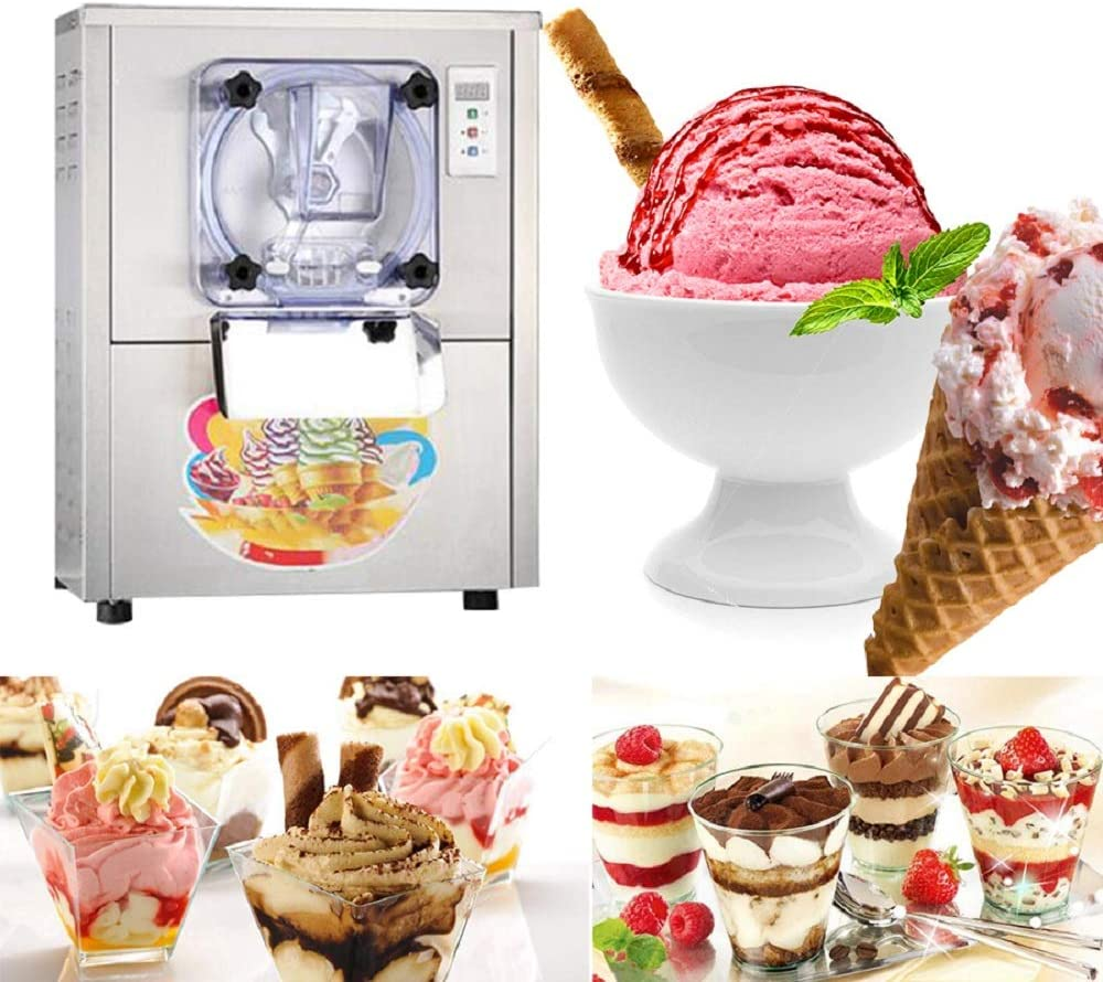 ixaer Hard Ice Cream Machine, Commercial Ice Cream Maker 20L/h Stainless Steel