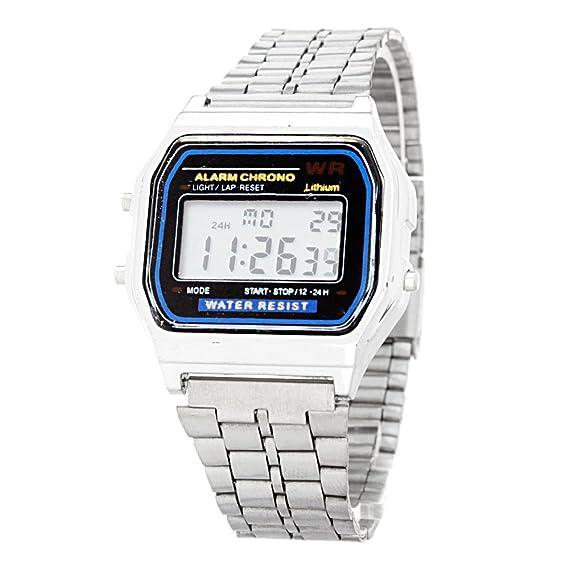 e1a6d5f092d3 Reloj para Hombre Digital Modelo A168 BlackMamut Cronometro Alarma Incluye  Estuche Blister - Plateado (Plateado