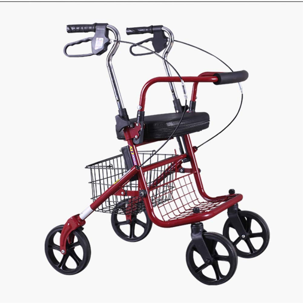 finest selection 236df 4a3b4 Amazon.com  Folding wheelchair scooter can be used as a wheelchair, elderly  shopping cart for the elderly to help buy a shopping cart and leisure  trolley  ...