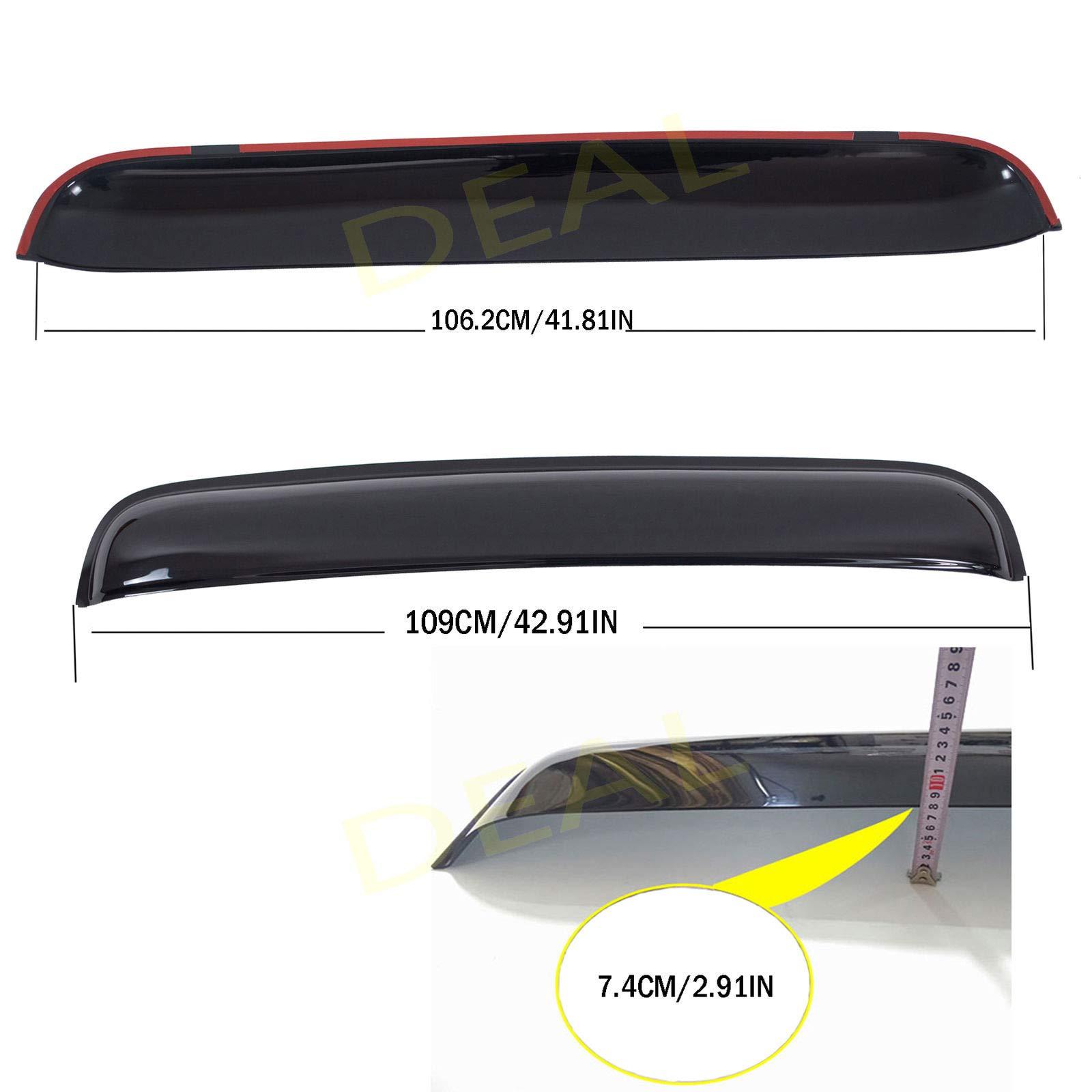 Smoke 1100mm Moon Roof//Sunroof Visor Deflector i3 vs1100mmmr 43.3in