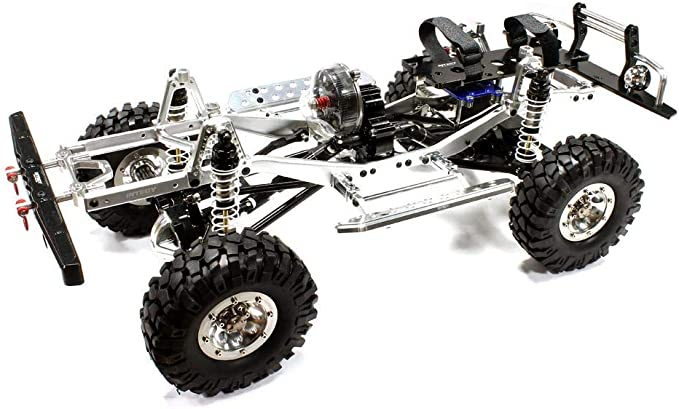 Integy RC Model Hop-ups C24866SILVERT2 V2 Billet Machined 1/10 Trail Roller 4WD Off-Road Scale Crawler ARTR: Amazon.es: Juguetes y juegos