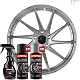 Superwrap Sprayable Vinyl Wrap - High Gloss Finish - Covers 4 Car Wheels Up to 17' or 2 Motorcycle Wheels - Silver…
