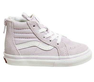 28e4bbcafc3 Amazon.com | Vans TD SK8-Hi Zip Lavender Fog Suede Infant Trainers Shoes |  Shoes
