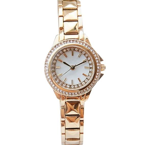 Reloj para mujer 2018 Nuevo Reloj mecánico automático para mujer impermeable Reloj completo para estudiante de moda con diamante: Amazon.es: Relojes