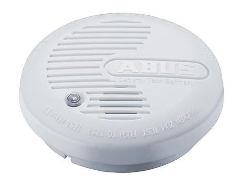 ABUS FU8340 Sensor óptico Inalámbrico - Detector de humo (Batería, 9 V, Alcalino