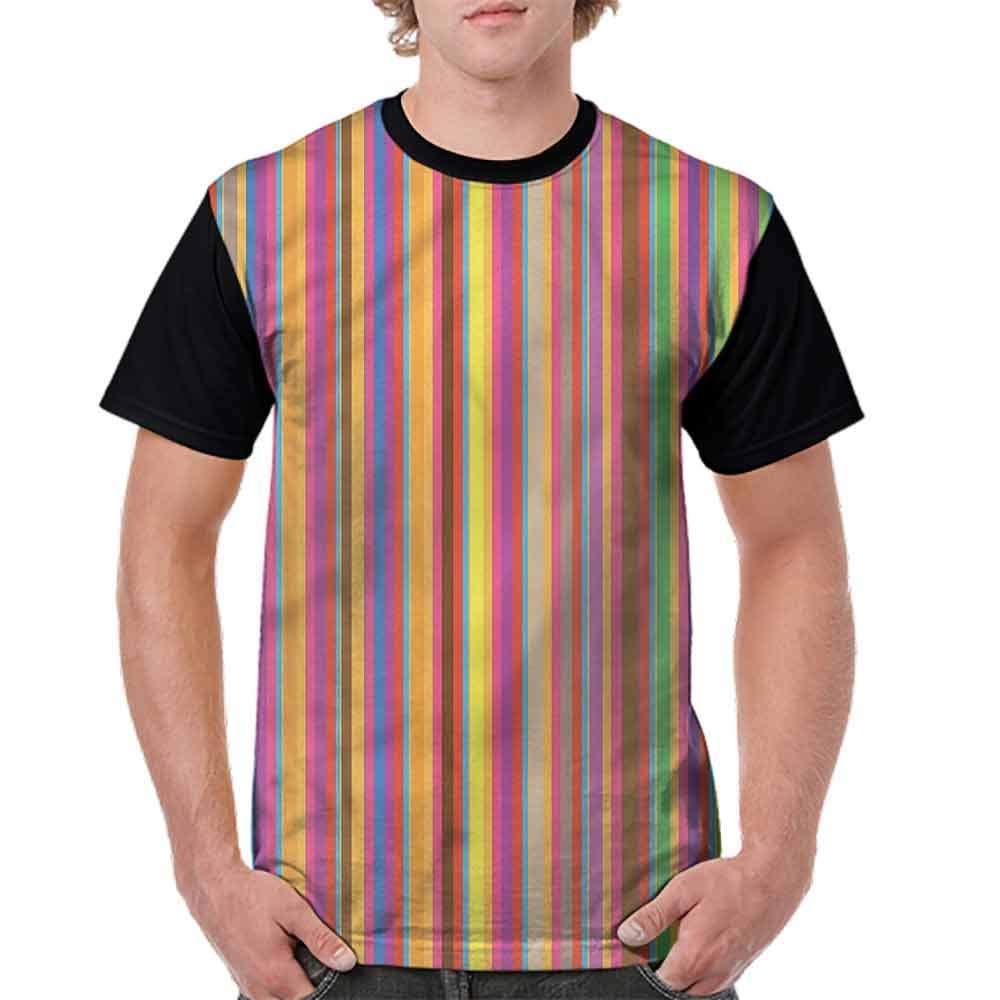 BlountDecor Performance T-Shirt,Colorful Symmetrical Motif Fashion Personality Customization
