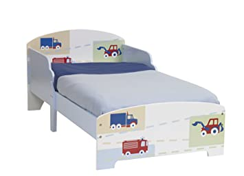 Vehicles Boys Kids Toddler Bed By HelloHome Amazoncouk Kitchen