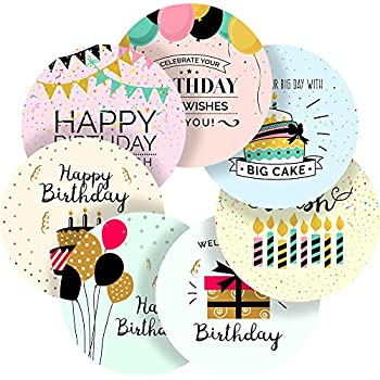 Light Happy Birthday Messages Reward Sticker Labels 70 Stickers 1 Inch Glossy