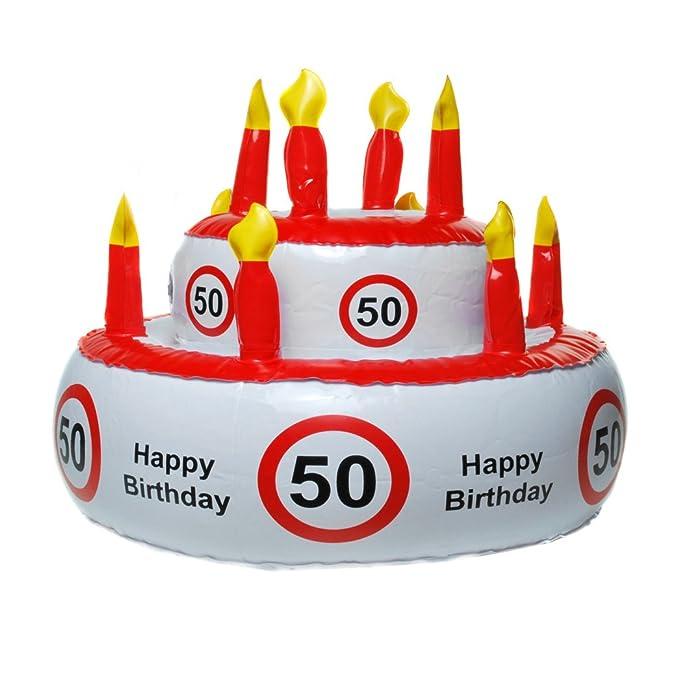 Unbekannt Hinchable Tarta de cumpleaños para Varios Redondo número ...