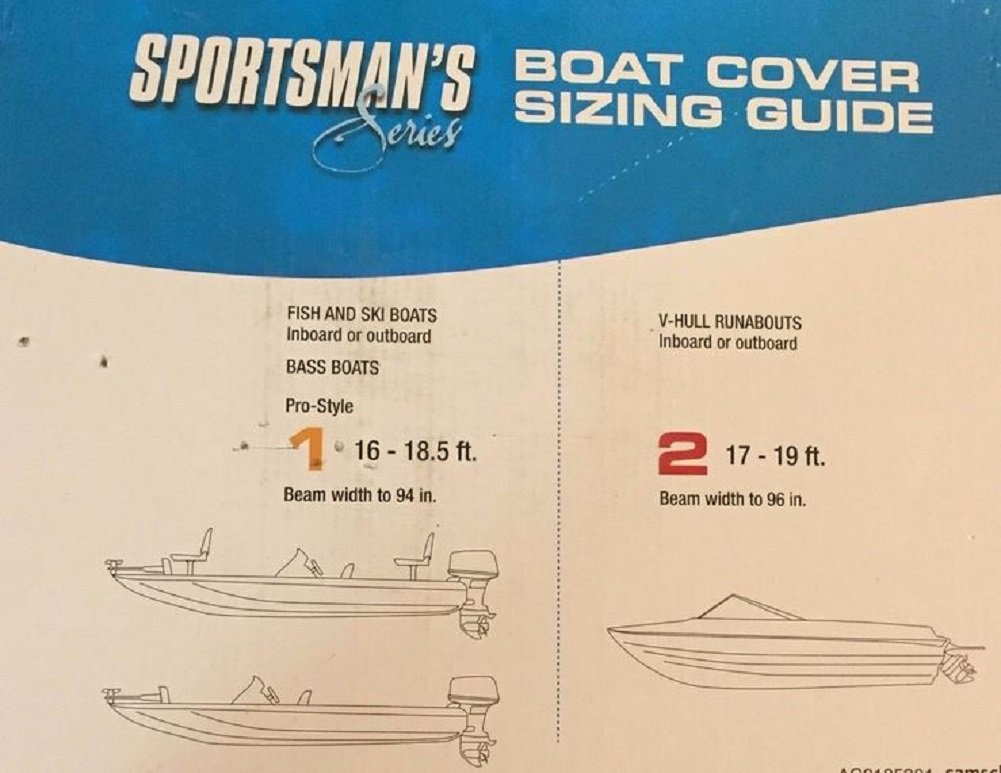 Sportsman Series Gray Boat Covers (16' to 18 5' 94