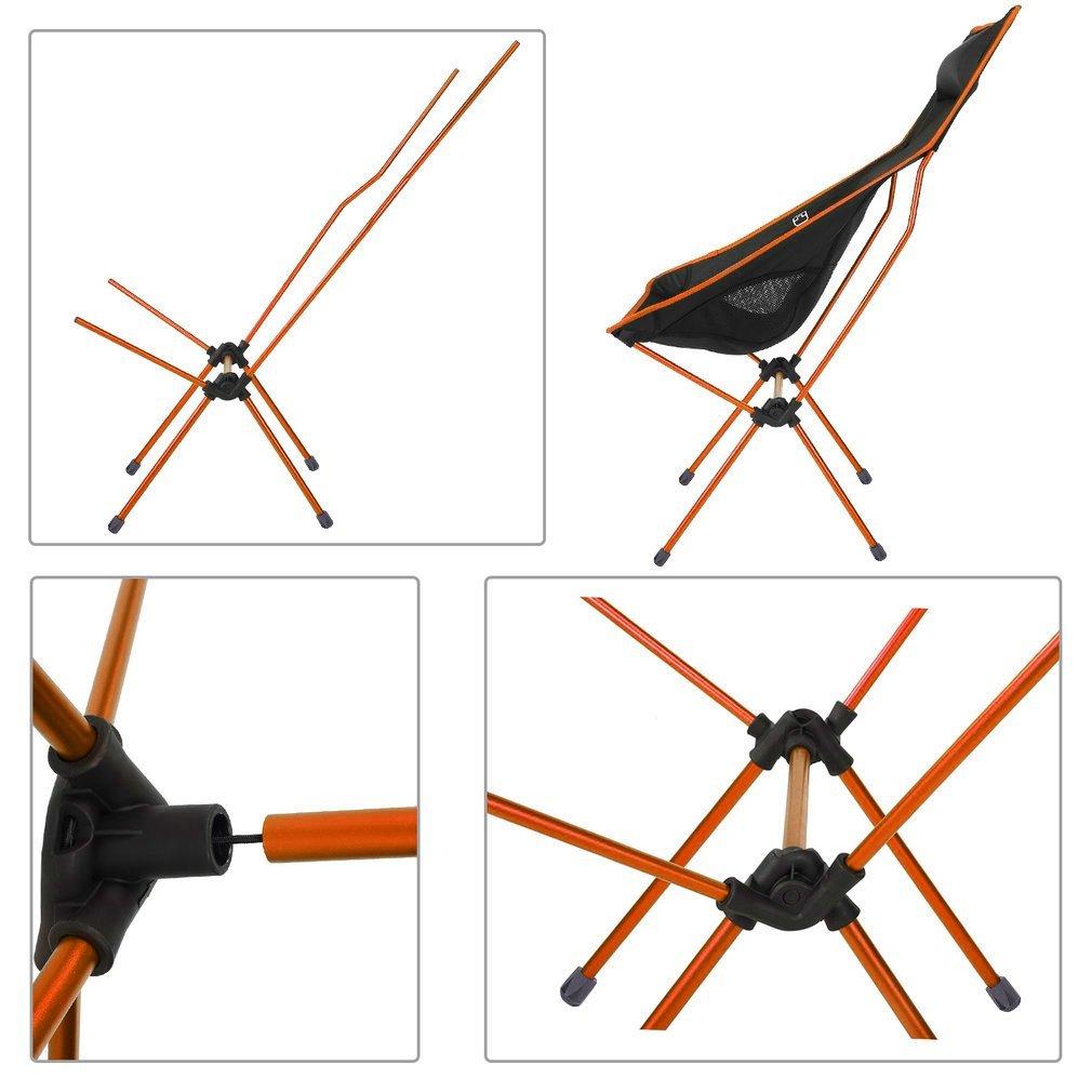 OUTAD - Silla Plegable para Acampada, Capacidad para 1 kg, Ligera, portátil, Silla de Pesca, Senderismo, Pesca, Picnic, Playa, Bolsa de Transporte, ...